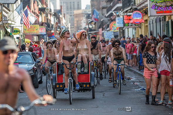 World Naked Bike Ride New Orleans 2014