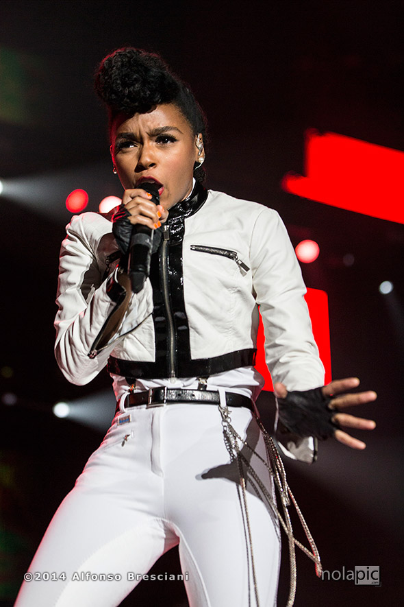 Janelle Monae at Essence Fest in New Orleans. © 2014 Alfonso Bresciani. To license images from this event please contact ZUMAPress.com