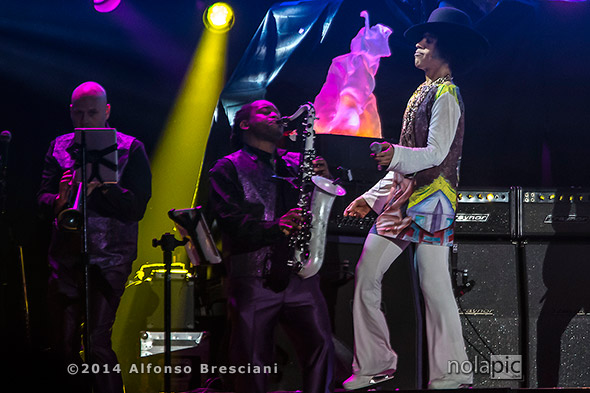 Prince at Essence Fest in New Orleans. © 2014 Alfonso Bresciani. To license images from this event please contact ZUMAPress.com