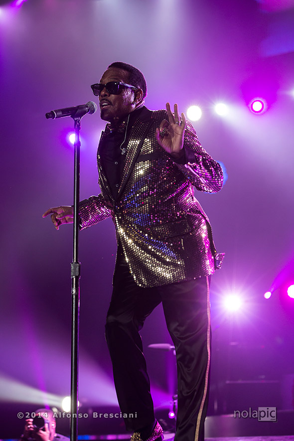 Charlie Wilson at Essence Fest in New Orleans. © 2014 Alfonso Bresciani. To license images from this event please contact ZUMAPress.com