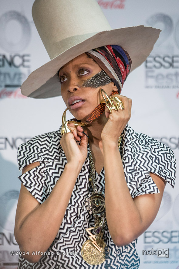 Erykah Badu at Essence Fest in New Orleans. © 2014 Alfonso Bresciani. To license images from this event please contact ZUMAPress.com