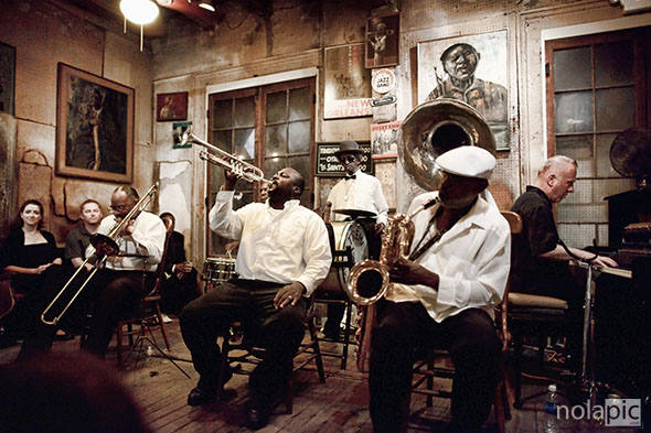 Treme Brass Band at Preservation Hall photo for sale