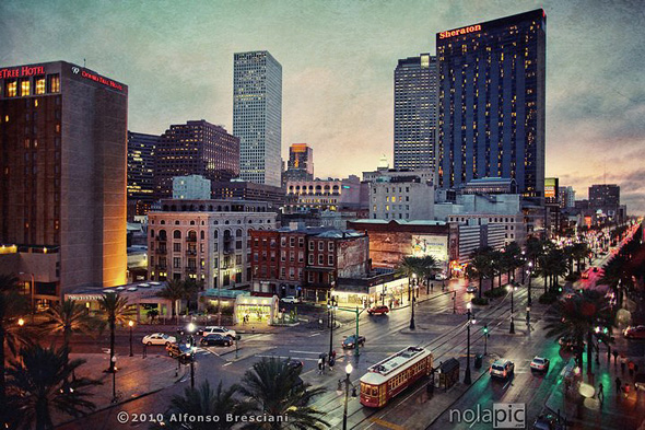 New Orleans...the magic city at twilight. Click to see larger and/or purchase print.