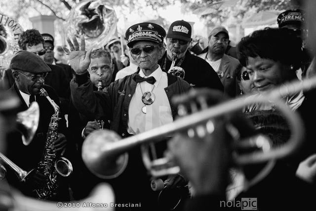 pictures of Uncle Lionel batiste second lines new orleans