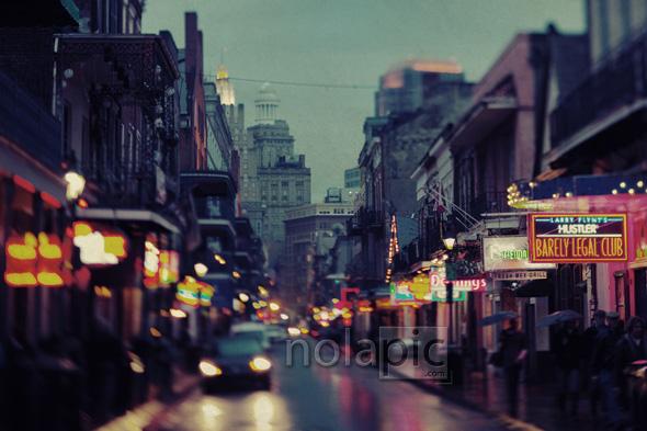 Photo Prints of Bourbon St. - New Orleans, LA