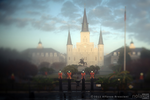 St Louis Cathedral Fog photography