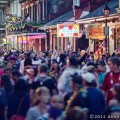 Bourbon Street on Mardi Gras day in New Orleans