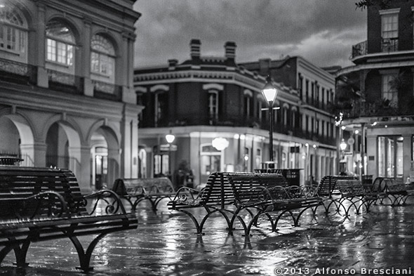 French Quarter Black And White Prints