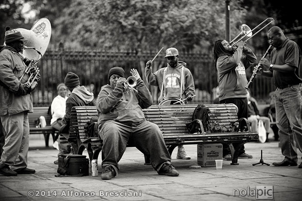 Brass Band In Jackson Square. Click image to view larger and/or purchase a print.