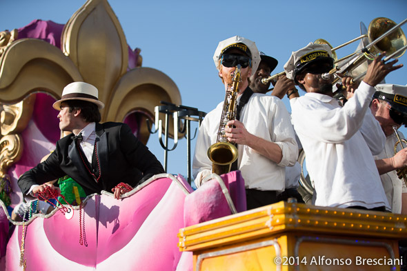 Ian Somerhalder on Endymion with Lagniappe Brass Band