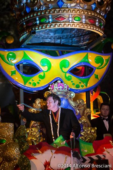 Quentin Tarantino Orpheus parade New Orleans
