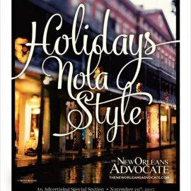 "The New Orleans Advocate "" Holidays Nola Style ""Cover Shot"