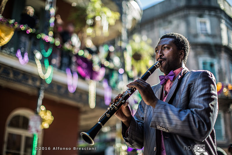 Photo of Mardi Gras Day in the French Quarter of New Orleans